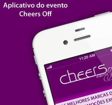 Aplicativo para iPhone do evento anual Cheers Off Mobile-site, e hot-site do evento